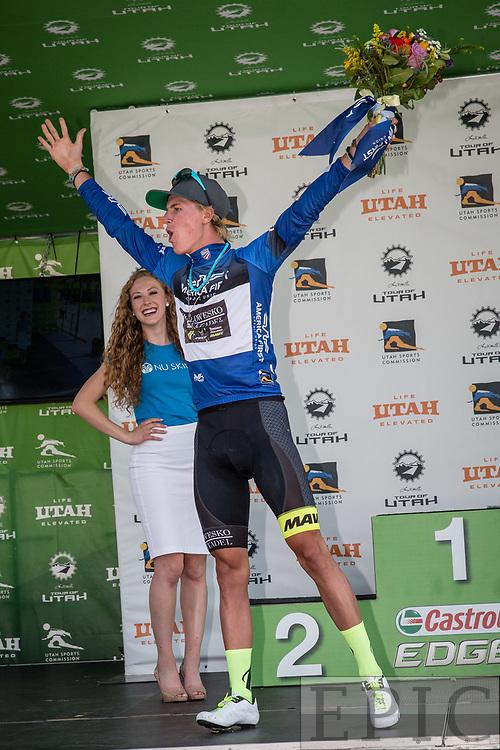 Cycling: Larry H. Miller Tour of Utah 2017 / Stage 5 - TJ Eisenhart (Holowesko) Fan favorite jersey.<br /> <br /> Layton - Bountiful (180km) / TOU / Utah  <br /> &copy; Jonathan Devich