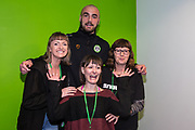 Forest Green Rovers Farrend Rawson(6) with his sponsors during the EFL Sky Bet League 2 match between Forest Green Rovers and Carlisle United at the New Lawn, Forest Green, United Kingdom on 16 March 2019.