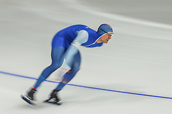February 23, 2018 - Pyeongchang, Gangwon, South Korea - Havard Lorentzen of  Norway at 1000 meter speedskating at winter olympics, Gangneung South Korea on February 23, 2018. (Credit Image: © Ulrik Pedersen/NurPhoto via ZUMA Press)