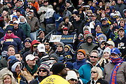 6 Dec 2008: A Navy fan holds up a sign before the Army / Navy game December 6th, 2008. At Lincoln Financial Field in Philadelphia, Pennsylvania.