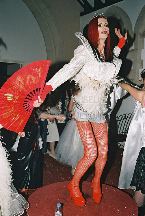A Transvestite dances at Return to Narnia, Pushca, New Years Eve, 2004