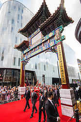 Chinatown, London, July 25thy 2016. His Royal Highness Prince Andrew The Duke of York is the Guest of Honour as a new Chinese gate on Wardour Street is inaugurated. PICTURED: Prince Andrew arrives in Chinatown, entering through the new gate.