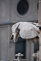 Milan, Italy, Duomo Cathedral - bird shaped  stone gargoyle.