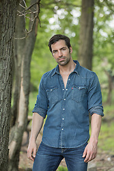 handsome man in a denim shirt