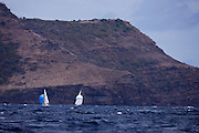 Dragon Class sailing in the Antigua Classic Yacht Regatta, Cannon Race.