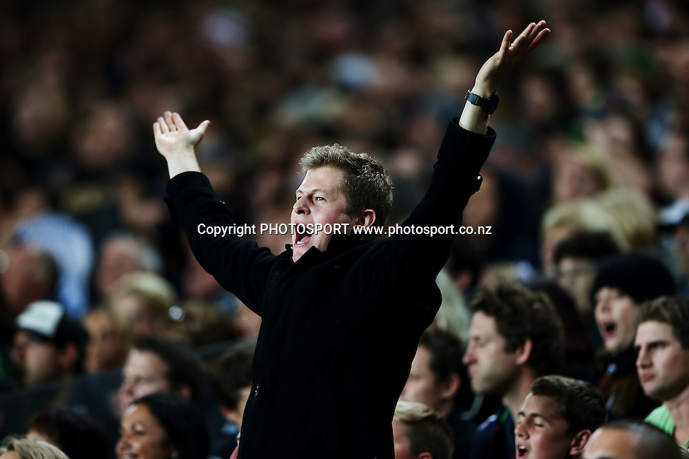 All Blacks fans. 2014 Steinlager Series rugby union test match, All Blacks v England at Eden Park, Auckland, New Zealand. Saturday 7th June 2014. Photo: Anthony Au-Yeung / photosport.co.nz