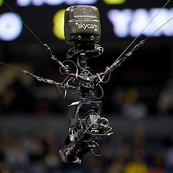 January 3, 2012; New Orleans, LA, USA; A detail of the ESPN Skycam during the second quarter of the Sugar Bowl between the Michigan Wolverines and the Virginia Tech Hokies at the Mercedes-Benz Superdome.  Mandatory Credit: Derick E. Hingle-US PRESSWIRE