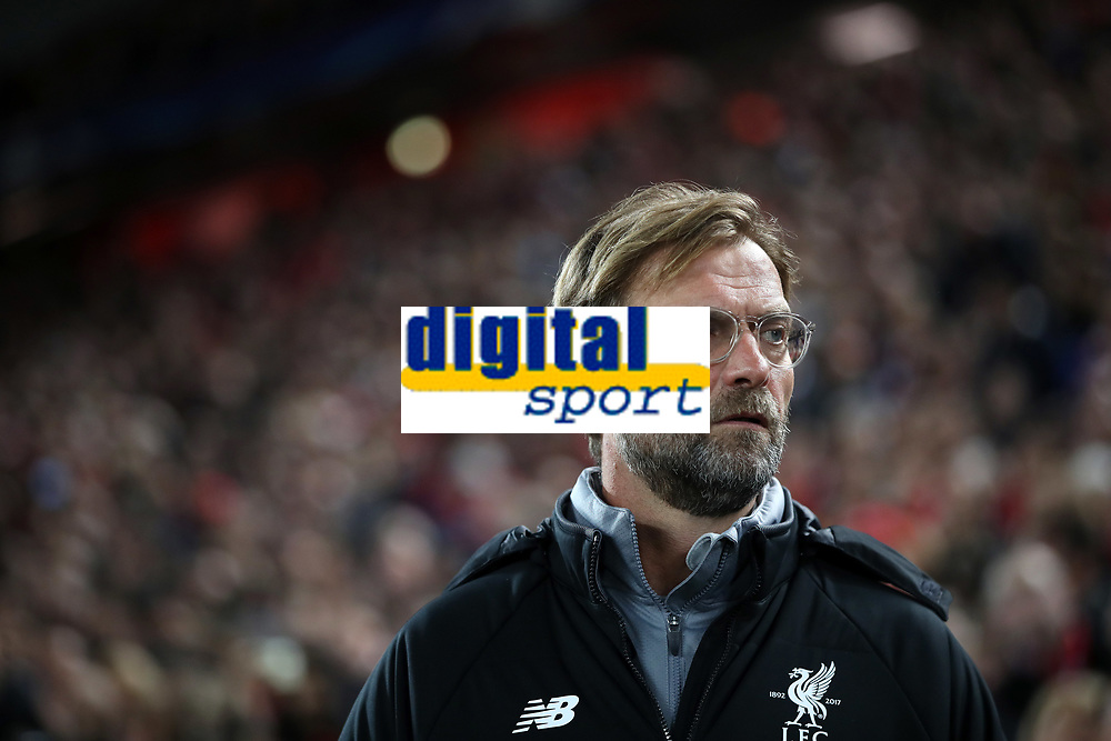 Football - 2017 / 2018 UEFA Champions League - Group E: Liverpool vs. NK Maribor<br /> <br /> Jurgen Klopp manager of Liverpool at Anfield.<br /> <br /> COLORSPORT/LYNNE CAMERON