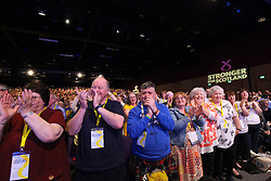 Nicola Sturgeon received a standing ovation following her speech to the SNP spring conference. pic copyright Terry Murden @edinburghelitemedia