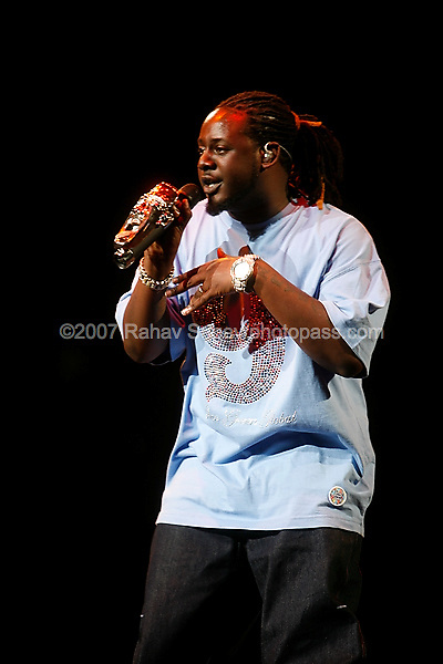 T-Pain performing at The Scream Tour at Madison Square Garden on August 22, 2007. ..