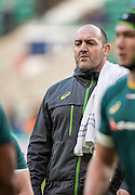 Twickenham, United Kingdom. Australia' Forward coach, Agentine, Mario LEDESMA, during  the pre game session of the  Old Mutual Wealth Series Match: England vs Australia, at the RFU Stadium, Twickenham, England, <br /> <br /> Saturday  03/12/2016<br /> <br /> [Mandatory Credit; Peter Spurrier/Intersport-images]
