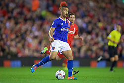 LIVERPOOL, ENGLAND - Wednesday, September 23, 2015: Carlisle United's Bastien Hery during the Football League Cup 3rd Round match at Anfield. (Pic by David Rawcliffe/Propaganda)