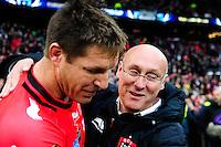 Bernard LAPORTE / Bakkies BOTHA - 02.05.2015 - Clermont / Toulon - Finale European Champions Cup -Twickenham<br />Photo : Dave Winter / Icon Sport