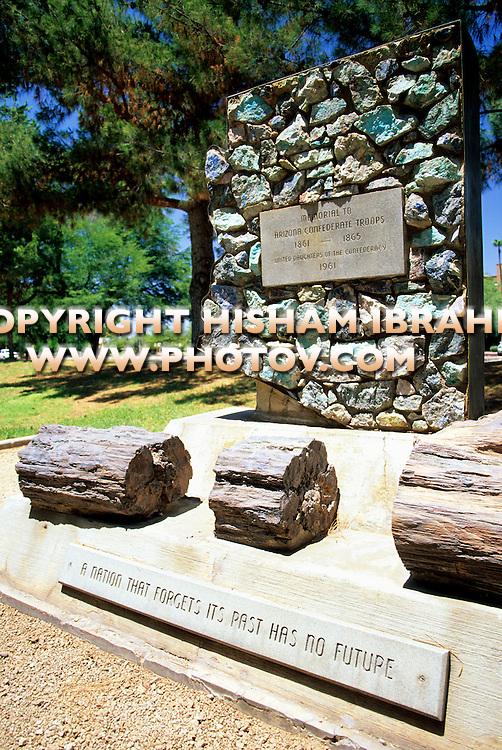 Confederate Troops Memorial, Phoenix, Arizona, USA
