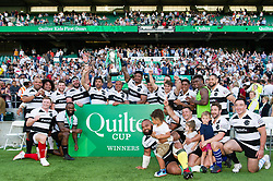 The Barbarians team celebrate with the Quilter Cup - Mandatory byline: Patrick Khachfe/JMP - 07966 386802 - 27/05/2018 - RUGBY UNION - Twickenham Stadium - London, England - England v Barbarians - Quilter Cup