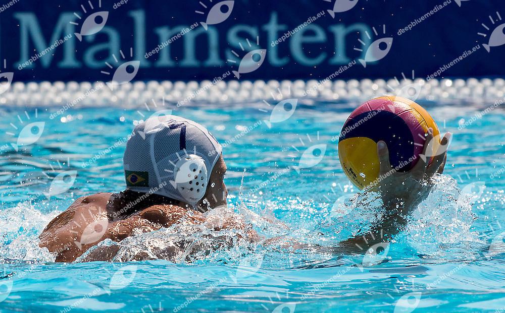 7 DELGADO Adrian BRA<br /> Brazil BRA (white) - Australia AUS (green)<br /> day 04 - 26/06/2015<br /> FINA Water Polo World League Superfinal Men<br /> Bergamo (ITA) 23-28 June 2015<br /> Photo G.Scala/Deepbluemedia