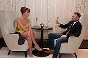 SARAH HARDING; TOM CRANE, The London Bar and Club awards. Intercontinental Hotel. Park Lane, London. 6 June 2011. <br /> <br />  , -DO NOT ARCHIVE-© Copyright Photograph by Dafydd Jones. 248 Clapham Rd. London SW9 0PZ. Tel 0207 820 0771. www.dafjones.com.