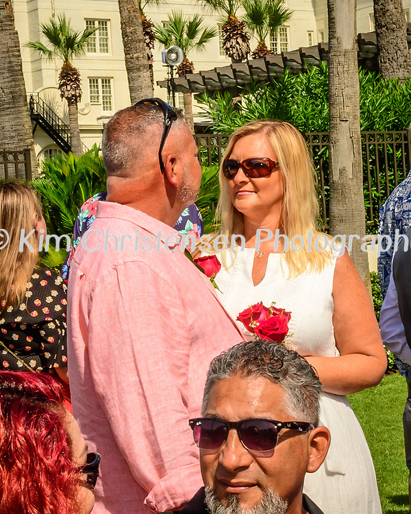 Wedding renewal ceremony at the Hotel Galvez in Galveston, TX, June 9, 2018