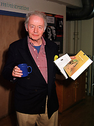 Playwright ULICK O'CONNOR at a play in London on 21st July 1999.<br /> MUJ 3