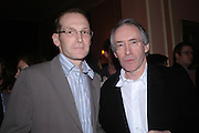 Neurosurgeon) Neil Kitchen, ( Henry in the book) Ian McEwan. Book party for Saturday by Ian McEwan, Polish Club, South Kensington.  4 February 2005. ONE TIME USE ONLY - DO NOT ARCHIVE  © Copyright Photograph by Dafydd Jones 66 Stockwell Park Rd. London SW9 0DA Tel 020 7733 0108 www.dafjones.com