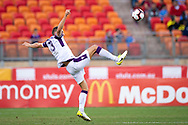 SYDNEY, NSW - FEBRUARY 24: Perth Glory defender Matthew Spiranovic (13) tries to control the ball at round 20 of the Hyundai A-League Soccer between Western Sydney Wanderers FC and Perth Glory on February 24, 2019 at Spotless Stadium, NSW. (Photo by Speed Media/Icon Sportswire)