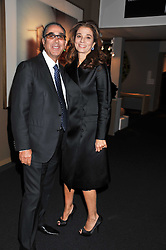 PROF.DAVID KHALILI and his wife MARRION at a 2nd private view of the Pavilion of Art & Design London 2011 held in Berkeley Square, London on 11th October 2011.