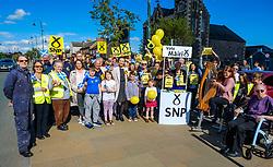 Nicola Sturgeon, Scotland's First Minister joins SNP candidate Mairi McCallan on the campaign trail in Biggar, South Lanarkshire.<br /> <br /> (c) Andrew Wilson   Edinburgh Elite media