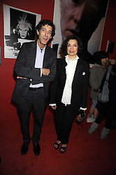 "BIANCA JAGGER and RALPH RUGOFF the director of the Hayward Gallery at an exhibition of work by Andy Warhol entitled ""Other Voices, Other Rooms"" at The Hayward Gallery, Southbank Centre, London SE1 on 6th October 2008."
