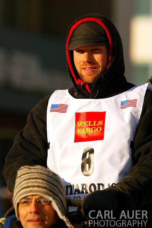 3/3/2007:  Anchorage Alaska -  Veteran Ramey Smyth of Houston, AK during the Ceremonial Start of the 35th Iditarod Sled Dog Race