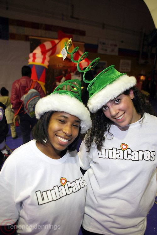 "l to r:  Cheryl Talley and Tara Plain at The Ludacris Foundation's Holiday Party co-sponsored by Alize at the Mount Vernon Boys Club on December 18, 2008 in Mount Vernon, New York..Chris ""Ludacris"" Bridges, William Engram and Chaka Zulu were the inspiration for the development of The Ludacris Foundation (TLF). The foundation is based on the principles Ludacris learned at an early age: self-esteem, spirituality, communication, education, leadership, goal setting, physical activity and community service. Officially established in December of 2001, The Ludacris Foundation was created to make a difference in the lives of youth. These men have illustrated their deep-rooted tradition of community service, which has broadened with their celebrity status. The Ludacris Foundation is committed to helping youth help themselves"