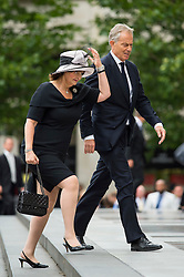 © Licensed to London News Pictures. 07/07/2015. London, UK. Former Brits prime minister TONY BLAIR and wife CHERIE BLAIR. A church service held at St Paul's Cathedral In London on the 10th anniversary of the 7/7 bombings in London which killed 52 civilians and injured over 700 more.  Photo credit: Ben Cawthra/LNP