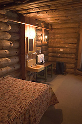 WY: Wyoming; Yellowstone National Park:.Historic room at Old Faithful Inn..Photo #: yellow1166.Photo copyright Lee Foster, 510/549-2202, lee@fostertravel.com, www.fostertravel.com..