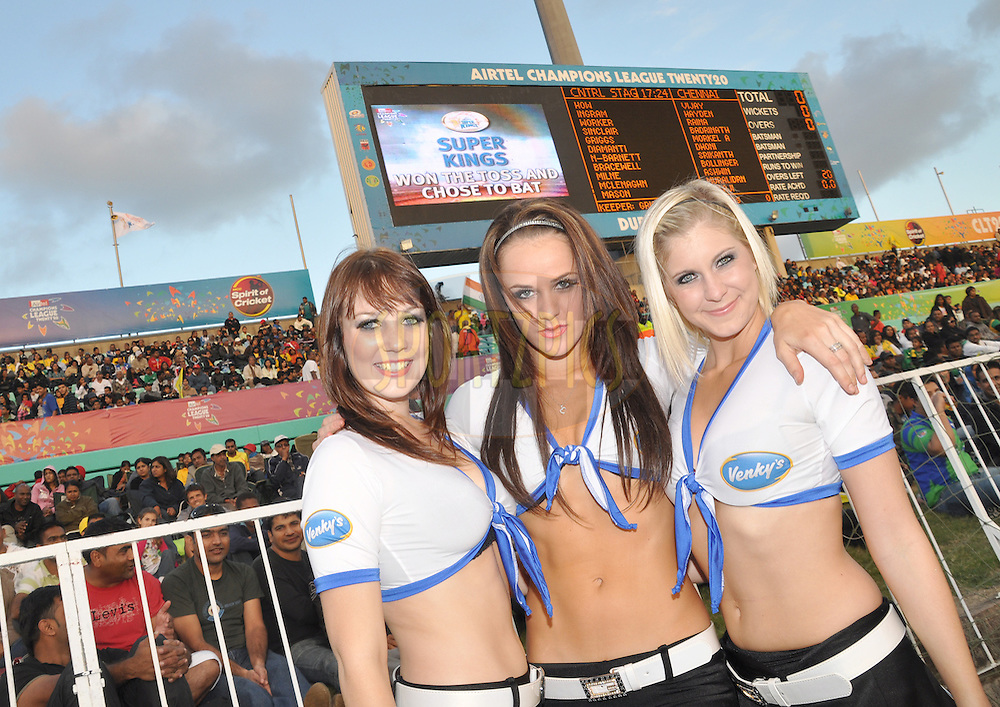 Cheer leaders during match 3 of the Airtel CLT20 between The Chennai Superkings and the Central Stags held at Kingsmead Stadium in Durban on the 11 September 2010..Photo by: Geoff Brink/SPORTZPICS/CLT20.