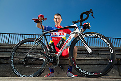 David Per of Cycling Team Adria Mobil poses for a portrait session ahead of the 2014 road season on February 25, 2014 in Cesca vas at Novo mesto, Slovenia. Photo by Vid Ponikvar / Sportida
