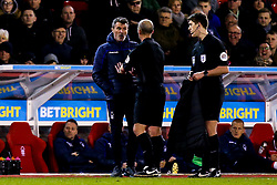 Nottingham Forest Assistant Manager Roy Keane argues with Referee Mike Dean - Mandatory by-line: Robbie Stephenson/JMP - 13/03/2019 - FOOTBALL - The City Ground - Nottingham, England - Nottingham Forest v Aston Villa - Sky Bet Championship