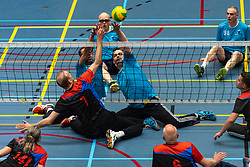 20-04-2019 NED: Dirk Kuyt Foundation Cup, Veenendaal<br /> National Cup sitting volleyball in Veenendaal / Spaarnestad vs. Volley Tilburg