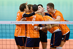 06-01-2020 NED: CEV Tokyo Volleyball European Qualification Men, Berlin<br /> Match Serbia vs. Netherlands 3-0 / Wessel Keemink #2 of Netherlands, Thijs Ter Horst #4 of Netherlands