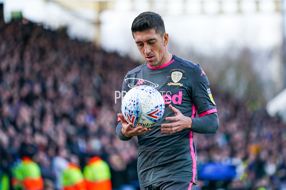 Leeds United midfielder Pablo Hernandez (19) in action during the EFL Sky Bet Championship match between Huddersfield Town and Leeds United at the John Smiths Stadium, Huddersfield, England on 7 December 2019.