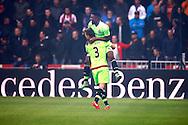 20-03-2016 VOETBAL:PSV-AJAX:EINDHOVEN<br /> Joël Veltman van Ajax en Riechedley Bazoer van Ajax vieren het snelle doelpunt<br /> <br /> Foto: Geert van Erven