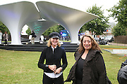 Julia Peyton-Jones and Zaha Hadid, Serpentine Gallery. Lilas an installation by Zaha Hadid architects. 11 July 2007.  -DO NOT ARCHIVE-© Copyright Photograph by Dafydd Jones. 248 Clapham Rd. London SW9 0PZ. Tel 0207 820 0771. www.dafjones.com.