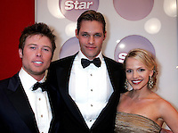 28 April 2006: Justin Bruening, Alexa Harris, Jacob Young in the exclusive behind the scenes photos of celebrity television stars in the STAR greenroom at the 33rd Annual Daytime Emmy Awards at the Kodak Theatre at Hollywood and Highland, CA. Contact photographer for usage availability.