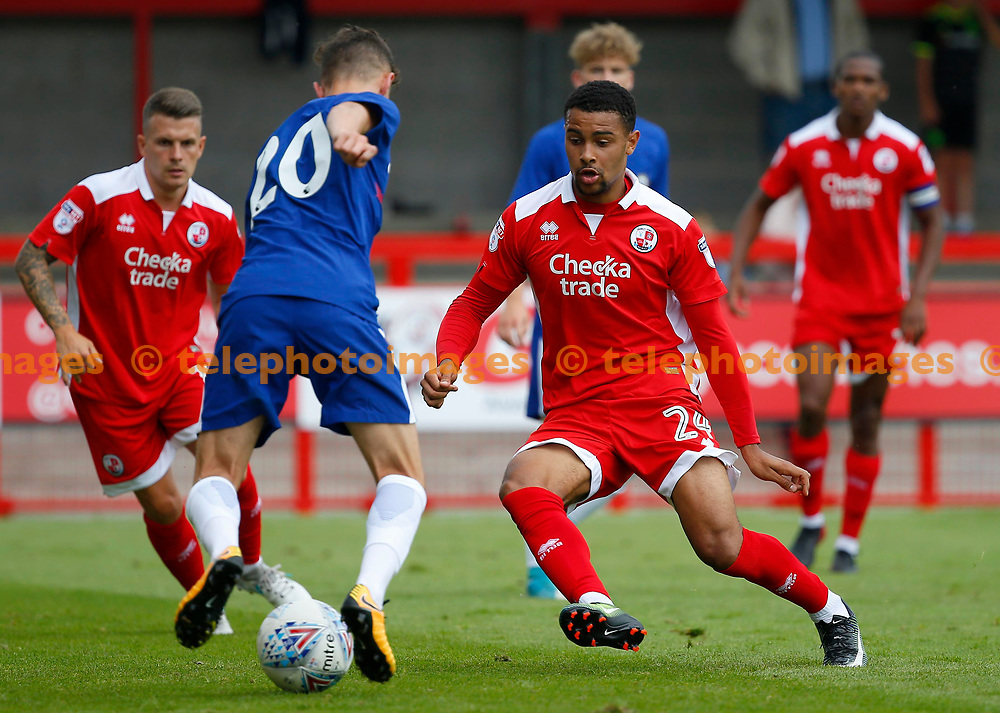Dennon Lewis of Crawley Town during the pre season friendly between Crawley Town and Chelsea XI at the Checkatrade Stadium in Crawley. 15 Jul 2017