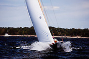 Nor'easter, Q Class, sailing in the Indian Harbor Classic Yacht Regatta.