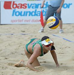 17-07-2014 NED: FIVB Grand Slam Beach Volleybal, Apeldoorn<br /> Poule fase groep G vrouwen - Agatha Bednarczuk (1) BRA