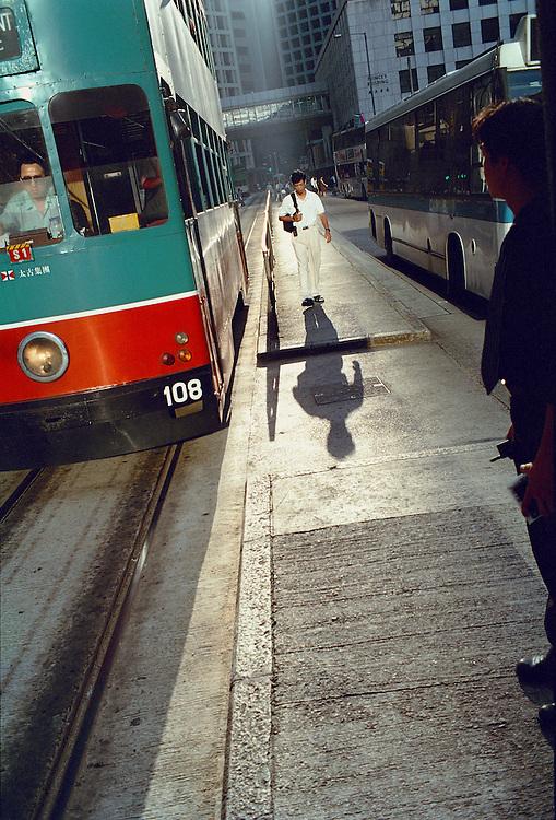 Commuters. Hong Kong.