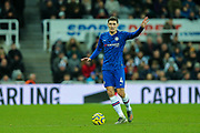 Andreas Christensen (#4) of Chelsea on the ball during the Premier League match between Newcastle United and Chelsea at St. James's Park, Newcastle, England on 18 January 2020.