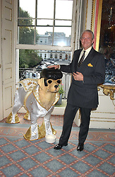 LT.COL.DUNCAN GREEN Director General of Battersea Dogs & Cats Home,  at the London Dog Parade, an auction of fibreglass dog sculptures designed by the rich and famous held at the In & Out Club, St.James's Square London on 14th September 2005.  Proceeds from the sale went to Battersea Dogs & Cats Home.<br /><br />NON EXCLUSIVE - WORLD RIGHTS