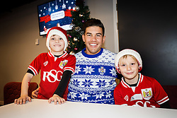 Ben Mosses of Bristol Rugby poses with young supporters as Season ticket holders and members of Bristol Sport 7s and Forever Bristol take part in a Bristol Sport Christmas Party - Mandatory byline: Rogan Thomson/JMP - 22/12/2015 - SPORT - Ashton Gate Stadium - Bristol, England - Bristol Sport Christmas at Ashton Gate.