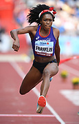 Tori Franklin (USA) places second in the women's triple jump at 46-10 (14.27m) during the IAAF Continental Cup 2018 at Mestkey Stadion in Ostrava, Czech Republic, Saturday, Sept. 8, 2018. (Jiro Mochizuki/Image of Sport)