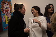 REBECCA GUINNESS; NURA KHAN, Stefania Pramma launched her handbag brand PRAMMA  at the Kensington residence of her twin sister, art collector Valeria Napoleone.. London.  29 April 2015